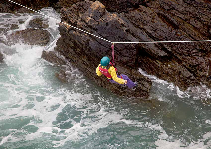 Things to do in Ireland: river zip-lining