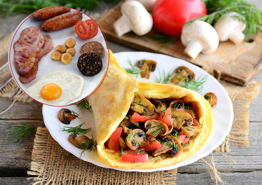 Irish Omelette Breakfast Recipe