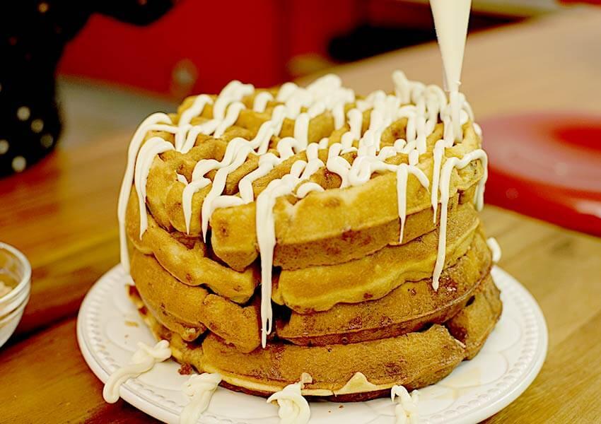 Holiday Desserts: Orange-Maple Cream Cheese Waffles
