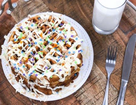 Toffee & Date Belgian Waffle Recipe