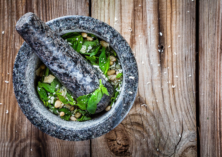 Essential Italian cooking tools - mortar and pestle
