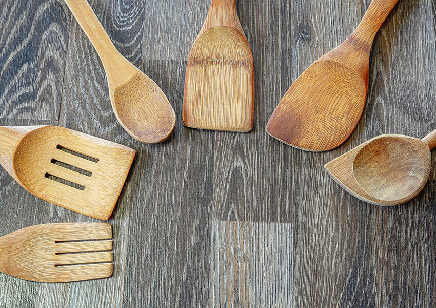 Essential Italian cooking tools - wooden spoons