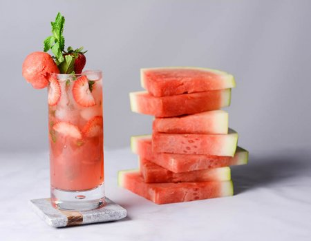 Strawberry Watermelon Mojito Recipe