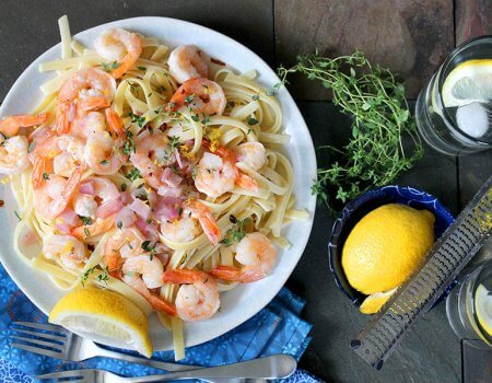 Lemon Garlic Shrimp Pasta Recipe