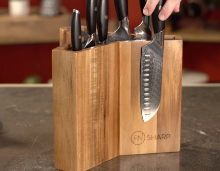 Santoku Knife on Magnetic Knife Block