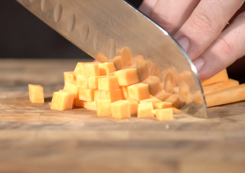 """Using a Santoku for Chopping"