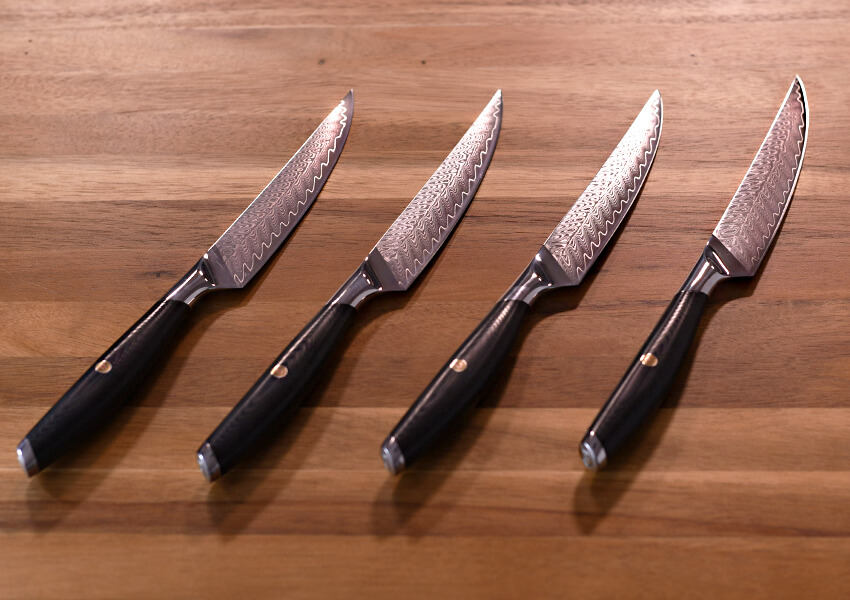 """Non-Serrated Steak Knives"