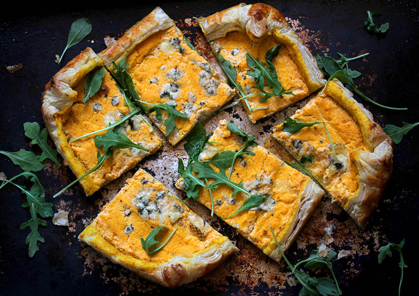Holiday Appetizers: Pumpkin Ricotta Tart