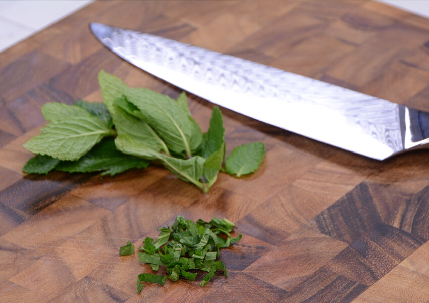Chef's Knife Uses: Preparing Herbs and Spices