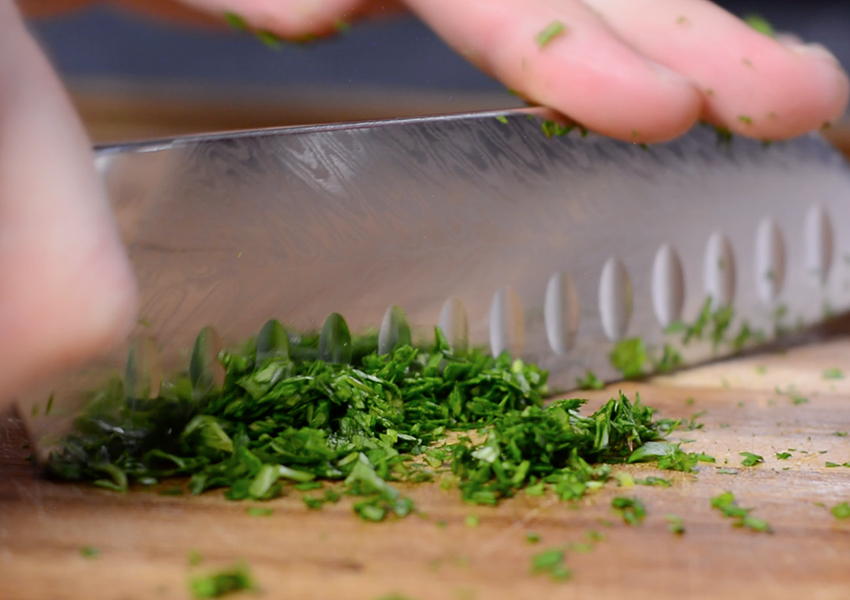 How to Mince Fresh Herbs and Spices