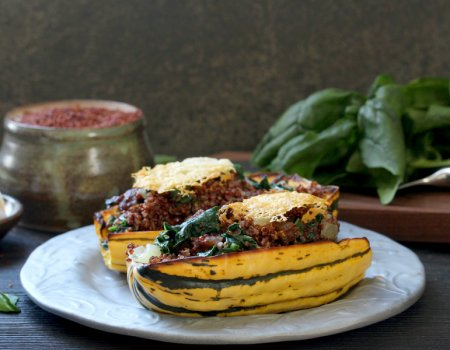 Sausage Stuffed Delicata Squash Recipe