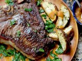 T-Bone Steak & Potato Espagnole Recipe