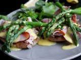 Ham and Asparagus with Hollandaise Sauce