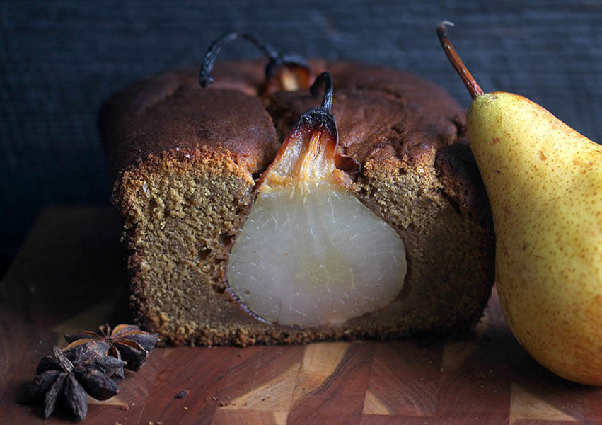 Holiday Desserts: Poached Pear Gingerbread