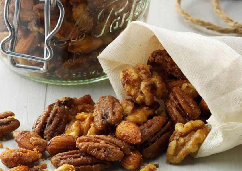 Holiday Appetizers: Slow Cooker Candied Nuts