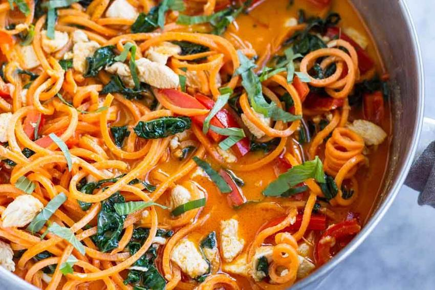 One Pot Meals: Curry Sweet Potato Noodles