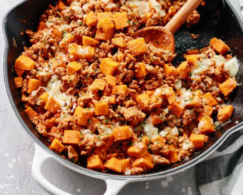 One Pot Meals: Turkey Sweet Potato Mash