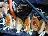 Holiday Appetizers: Veggie Chicken Potstickers