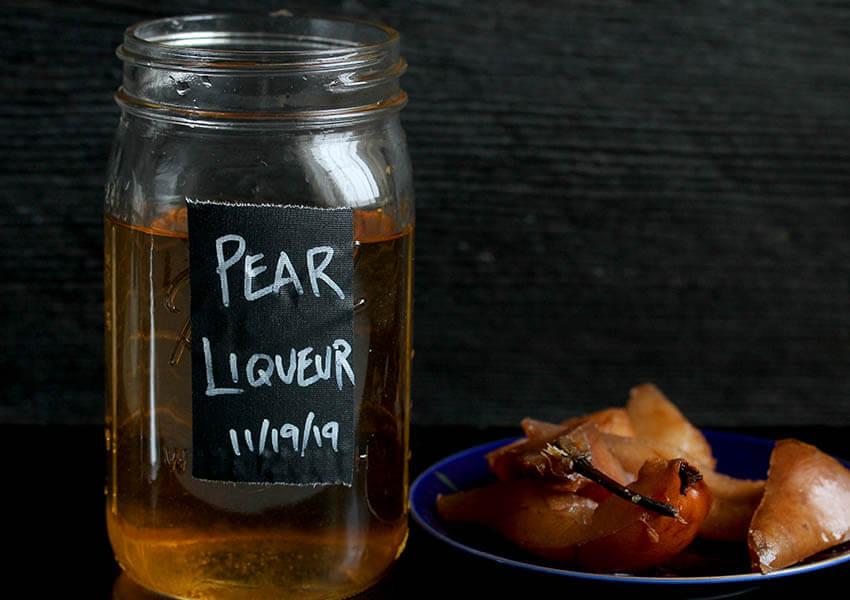 White Christmas Punch Homemade Pear Liqueur