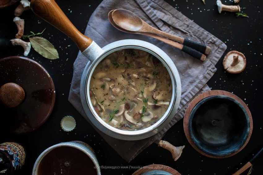 Beer Mushroom Soup